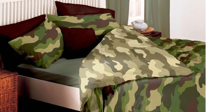 Set da letto reversibile mimetico