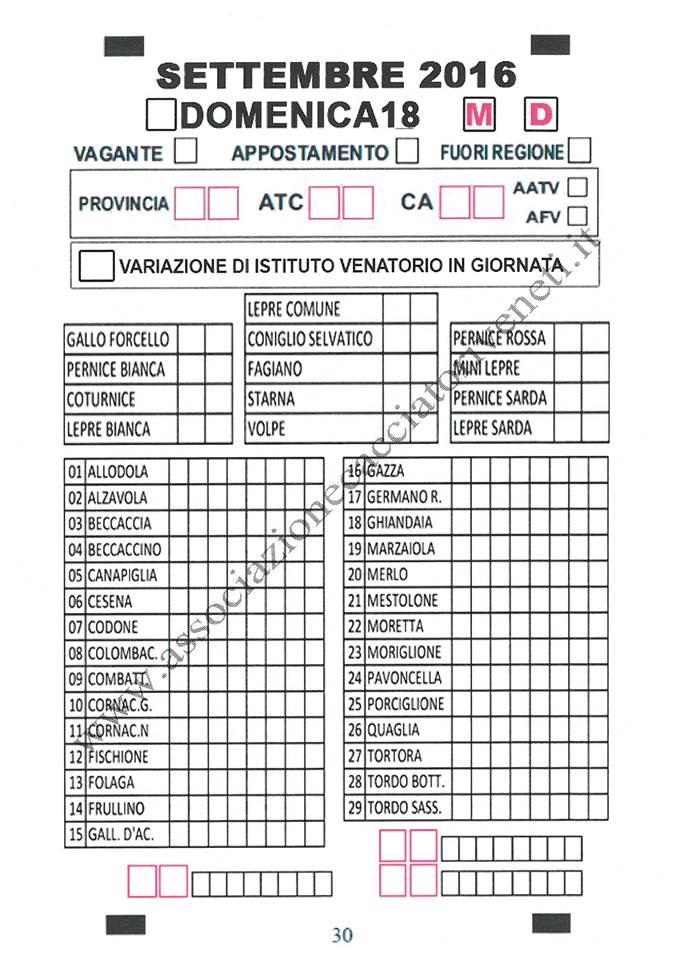 Calendario Venatorio 2020 Veneto.Veneto Approvati Il Calendario 2016 2017 E Il Tesserino