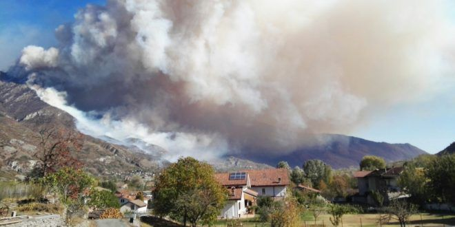 Piemonte incendi caccia