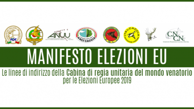 Photo of Europee 2019, dal mondo venatorio un manifesto per i candidati
